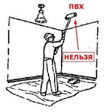 Нельзя красить натяжные потолки из ПВХ самостоятельно