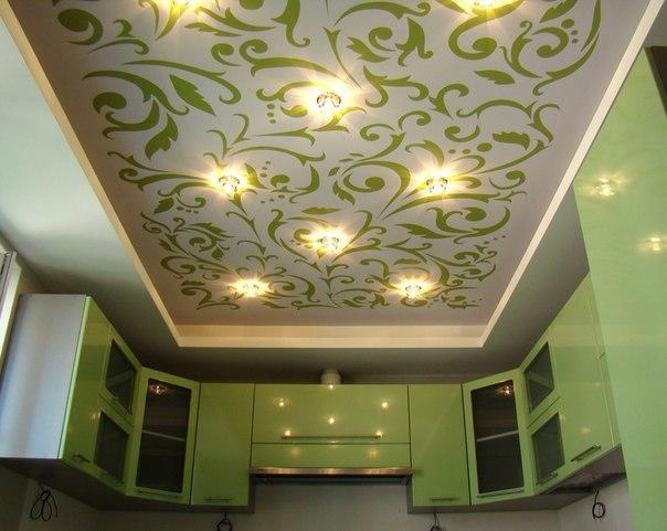 Двухуровневый тканевый натяжной потолок