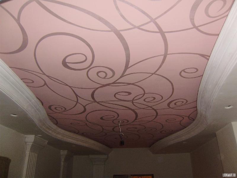 Фотопечать на тканевом натяжном потолке
