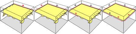 пример натяжки потолка