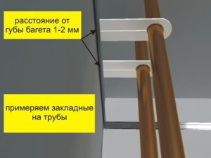 Обход трубы ПВХ полотно