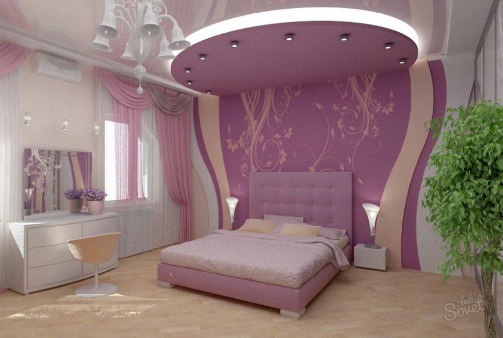 Пример оформления потолка из гипсокартона