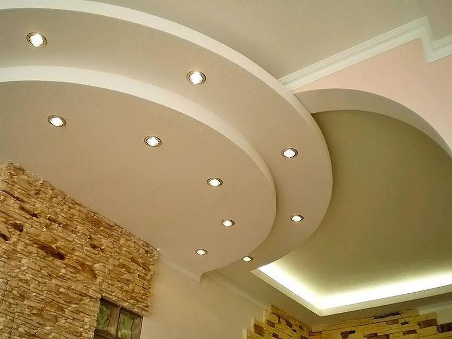 Потолок из гипсократона