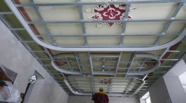 Каркас на старый потолок
