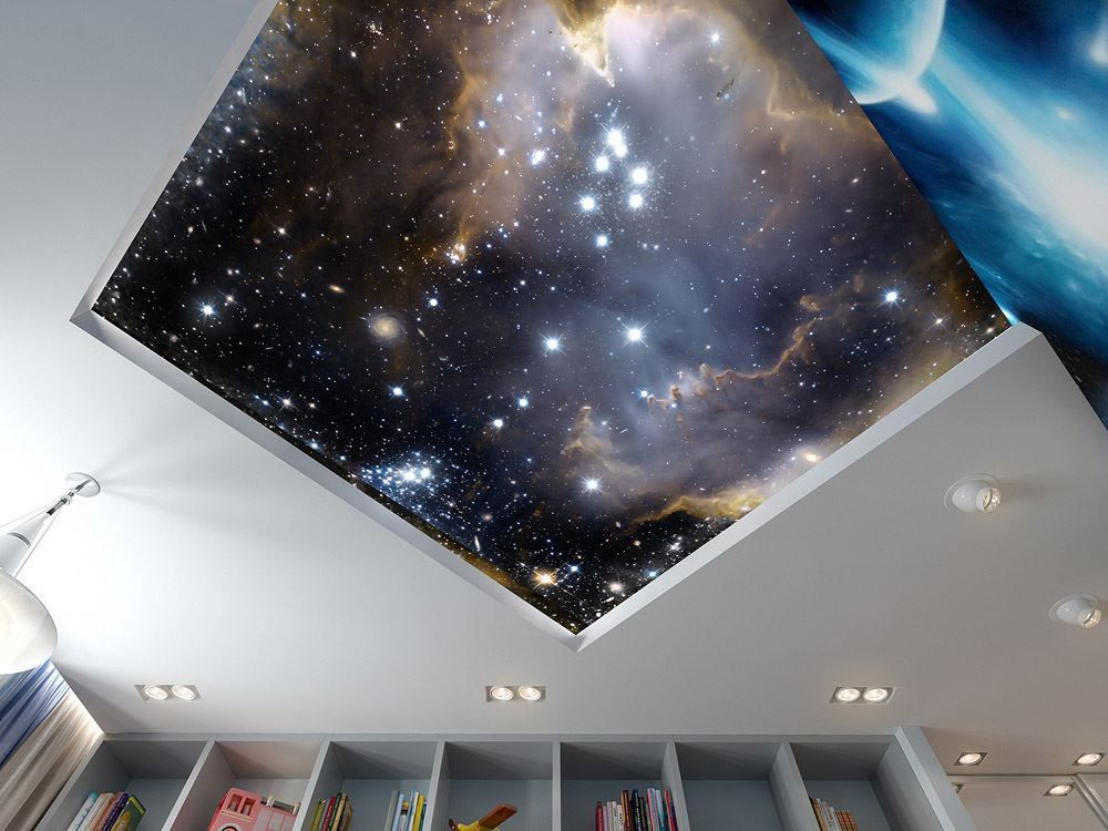 Звёздное небо при помощи краски