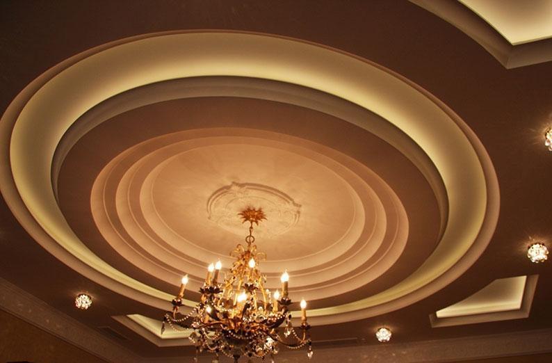 современном многоуровневые потолки из гипсокартона фото в зале наличии каких-либо
