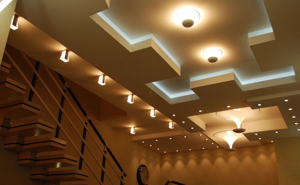 Интерьер потолков из гипсокартона фото в кафе и ресторанах