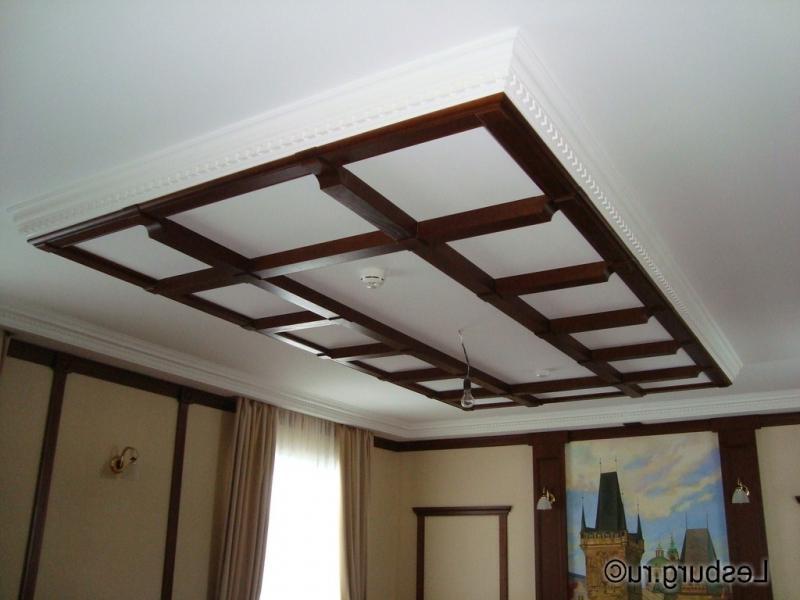 Потолок из гипрока в стиле прованс