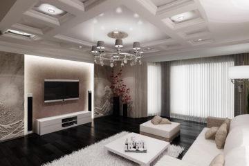 Современный дизайн потолка из гипсокартона