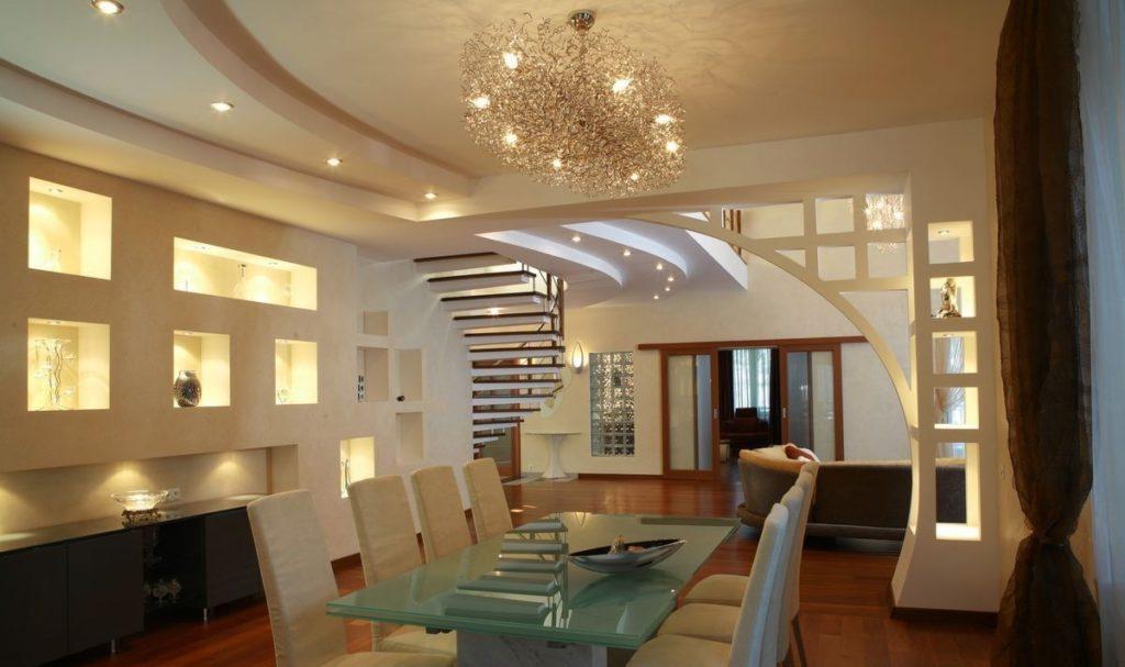 Стена и потолок из гипсокартона