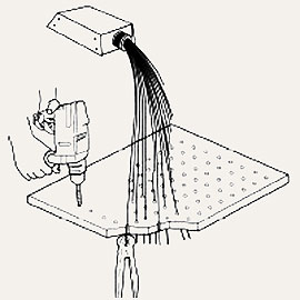 Установка волокон