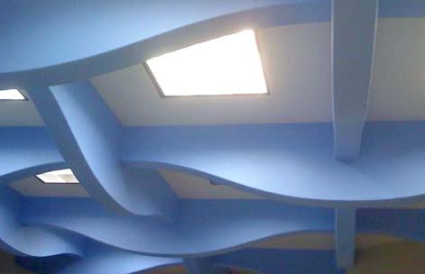 Необычные вставки для потолка из гипсокартона