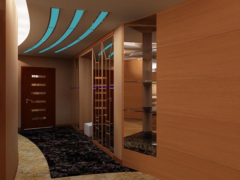 Потолок из гипсокартона в коридоре