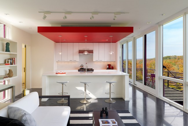 Потолок из гипрока на кухне
