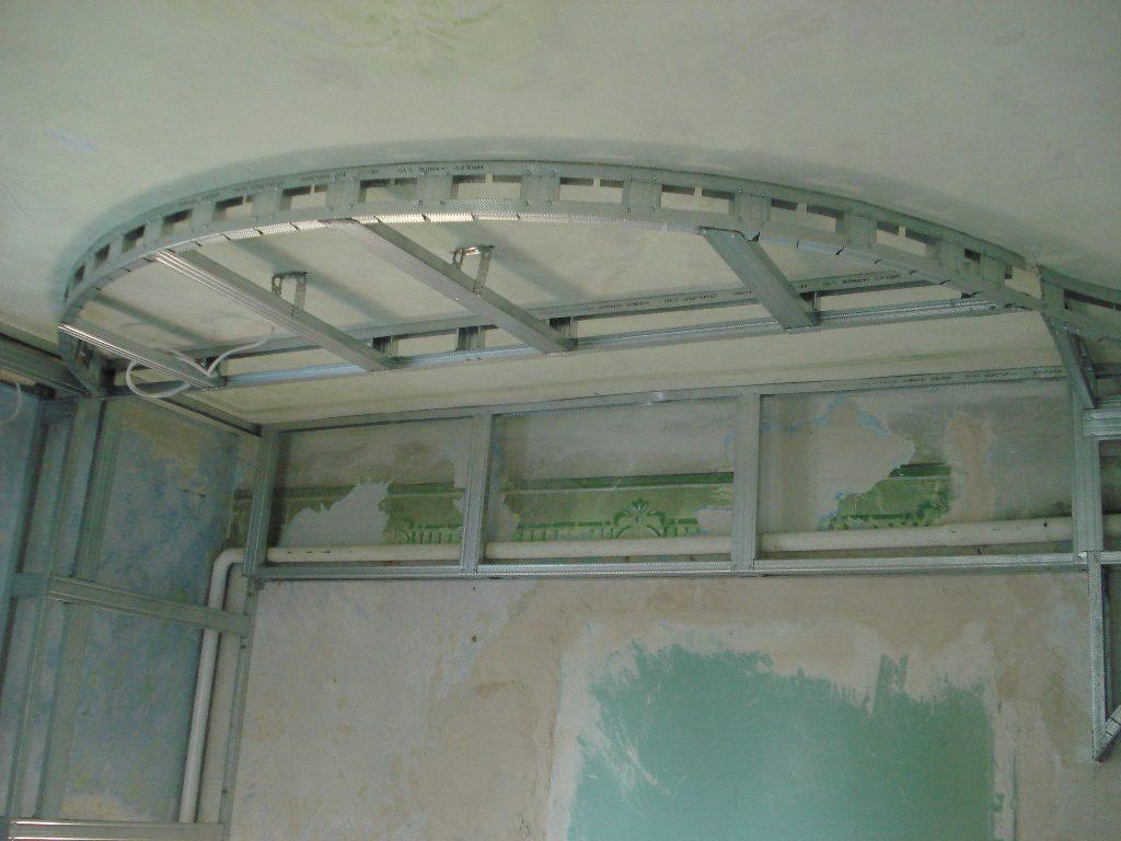 Каркас с радиусными конструкциями