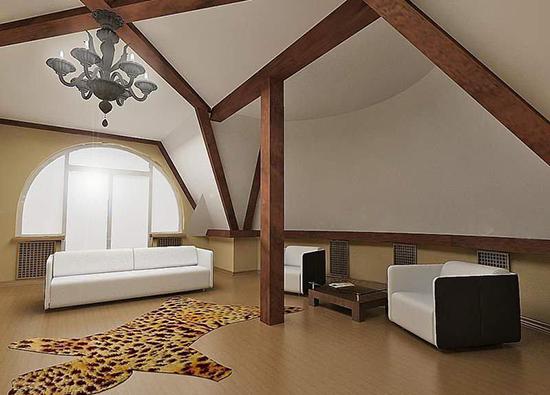 Потолок из гипрока в деревянном доме