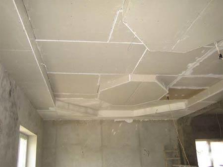 Подготовка для отделки потолка
