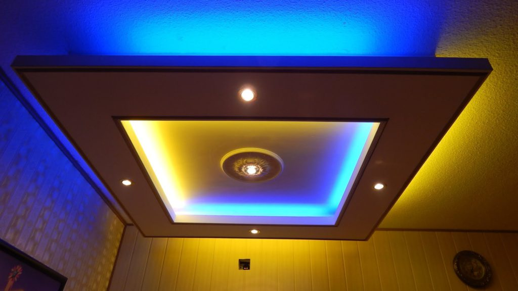 Потолки из гкл с подсветкой