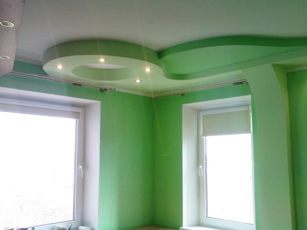 Цветной потолок из гипсокартона
