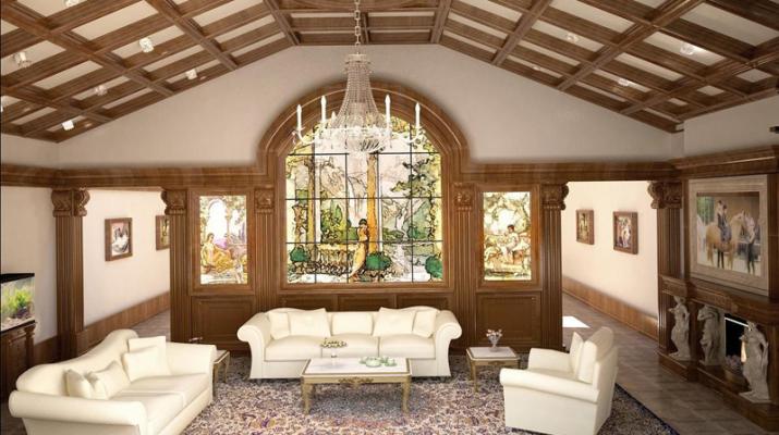 Отделка потолка деревом в частном доме