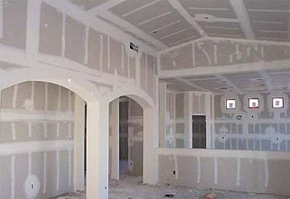 монтаж гипсокартонных потолков технология