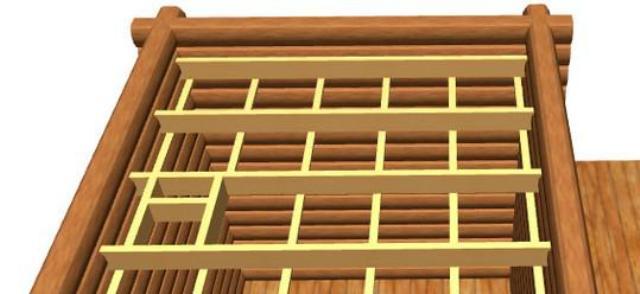 Сначала собирается каркас из несущих балок (в отсутствие такового). Он будет основой всей конструкции и на него ляжет основная нагрузка. Идеальным материалом для сооружения перекрытия в этом случае станут балки, сечением 50х150 миллиметров. Балки укладывают на верхнюю обвязку и формируют из них несущую решетку.
