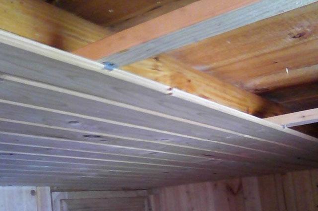 как подшить потолок в бане