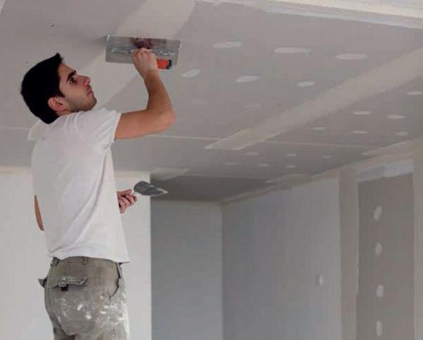 Как правильно зашпаклевать потолок 15