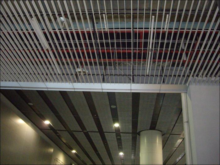 потолки реечные алюминиевые