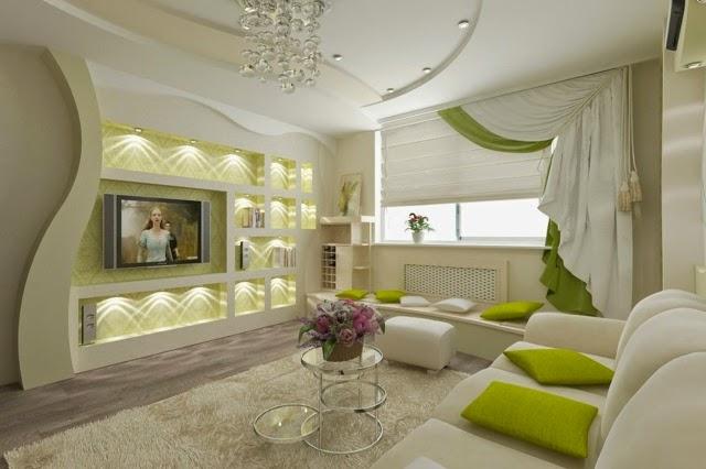 Современный дизайн потолков из гипсокартона отлично подойдет для интерьера в любой комнате