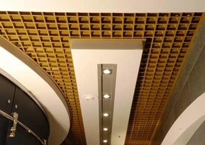 Фото 1 - Комбинированный подвесной потолок грильято