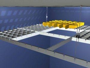 Фото 2 - Схема монтажа подвесного потолка грильято