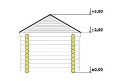 Высота потолка и крыши бани