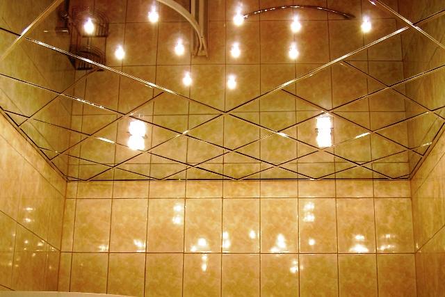 Зеркальный акриловый потолок