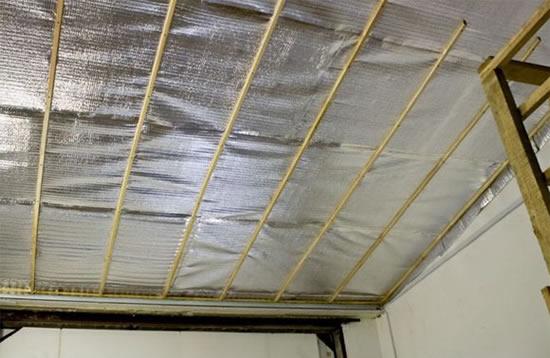 чем покрыть потолок в гараже