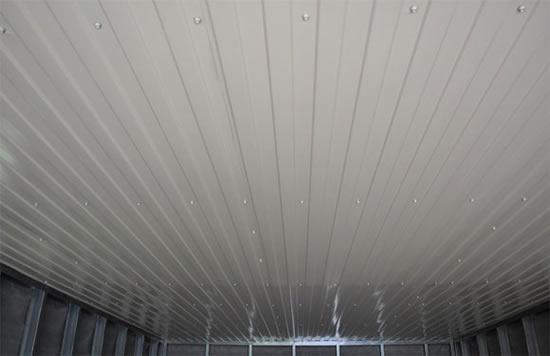 как подшить потолок в гараже