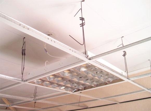как правильно установить подвесной потолок