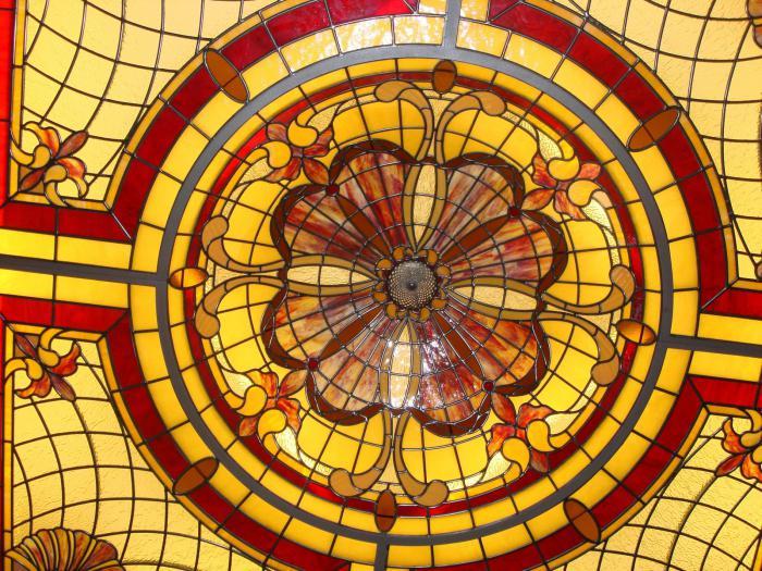 витражный потолок фото