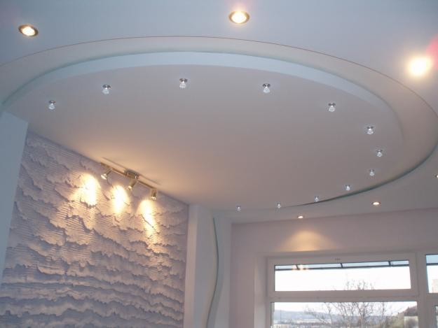 Гипсокартон скроет любые неровности и трещины вашего потолка.