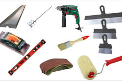 Инструменты для шпаклевки потолка