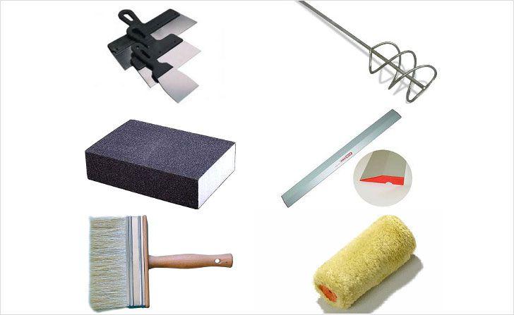 Инструмент для шпаклевки потолка
