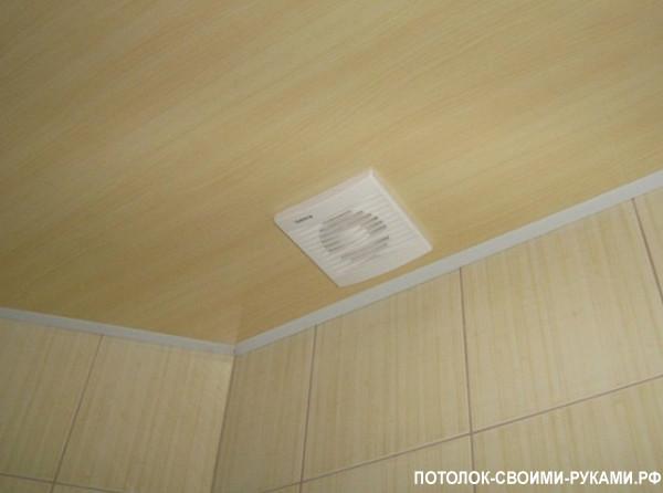 Фото подшивного потолка из пластиковых панелей.