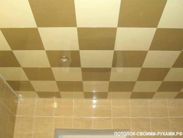 Фото касетного подшивного потолка.