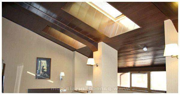 Фото - Оформление потолка мансарды