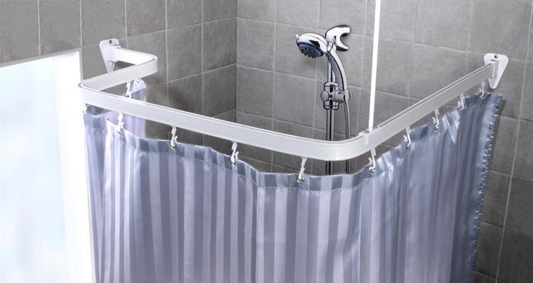 гибкий карниз для шторки в ванной