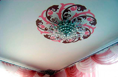 Достоинства наклеек на потолок