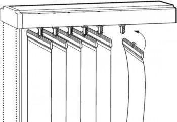 Устройство карниза вертикальных жалюзи