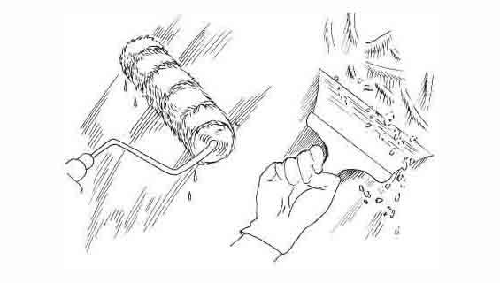 Снятие побелки шпателем