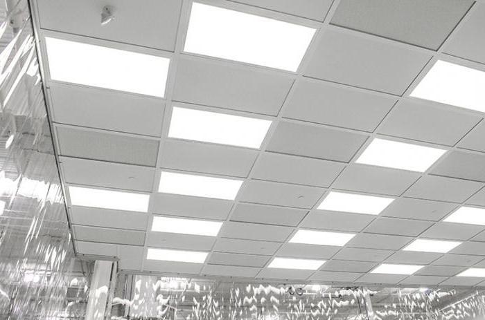 потолок со световыми панелями