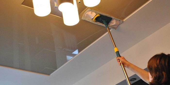 Как мыть натяжные глянцевые потолки фото
